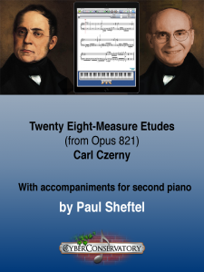 Twenty Eight-Measure Etudes Cover