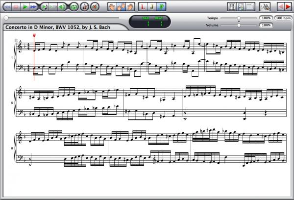 Johann Sebastian Bach — Concerto BWV 1052 Screenshot