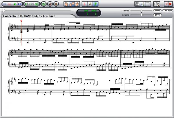 Johann Sebastian Bach — Concerto BWV 1054 Screenshot