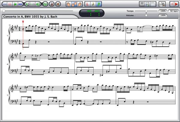 Johann Sebastian Bach — Concerto BWV 1055 Screenshot