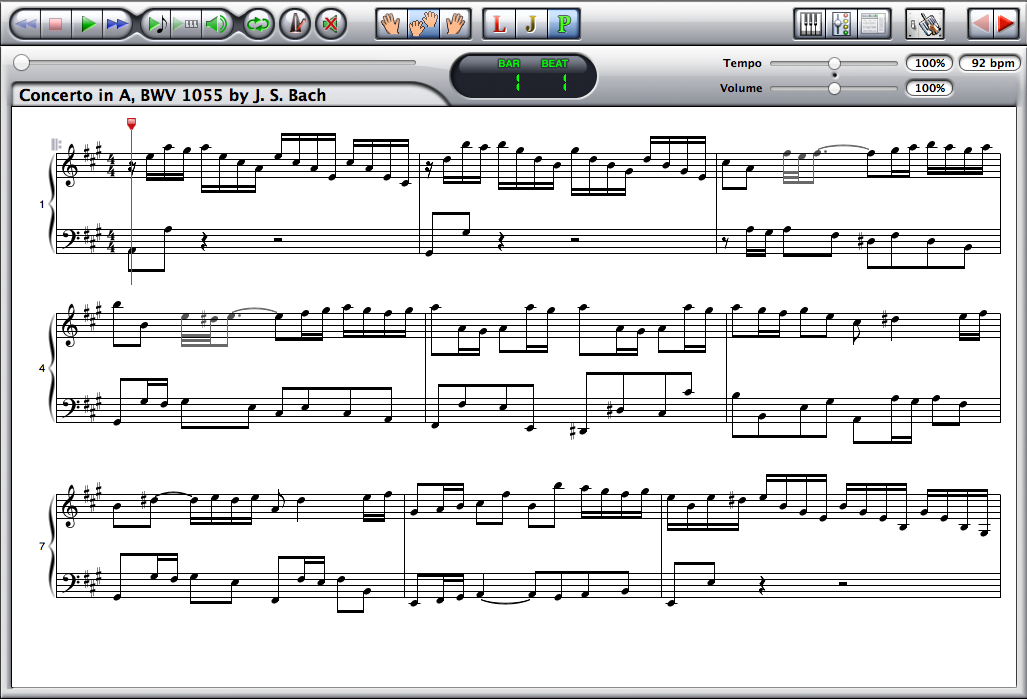 Johann Sebastian Bach: Concerto in A Major, BWV 1055