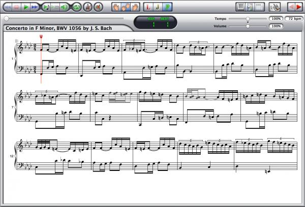 Johann Sebastian Bach — Concerto BWV 1056 Screenshot