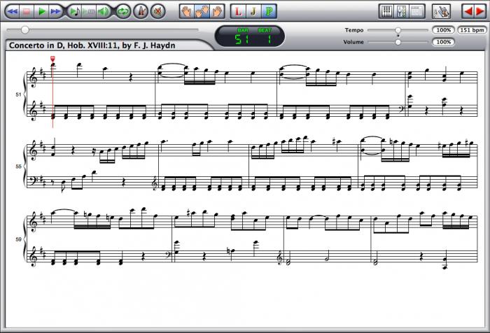 Haydn — Concerto Hob. XVIII:11 Screenshot