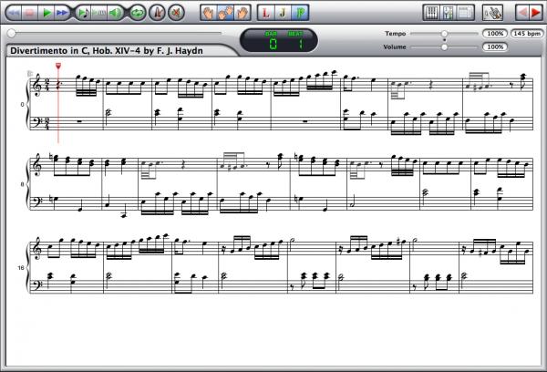 Haydn — Divertimento XIV:4 Screenshot