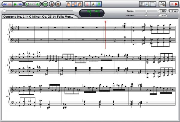 Mendelssohn — Concerto Op. 25 Screenshot