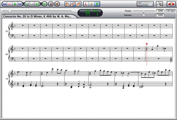 Mozart — Concerto K. 466 Screenshot