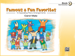 Famous & Fun Favorites Book 1