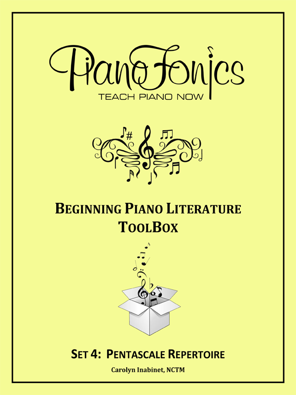 Beginning Piano Literature - Set 4- Pentascale Repertoire