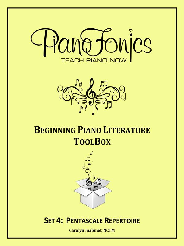 Beginning Piano Literature - Set 4- Pentascale Repertoire