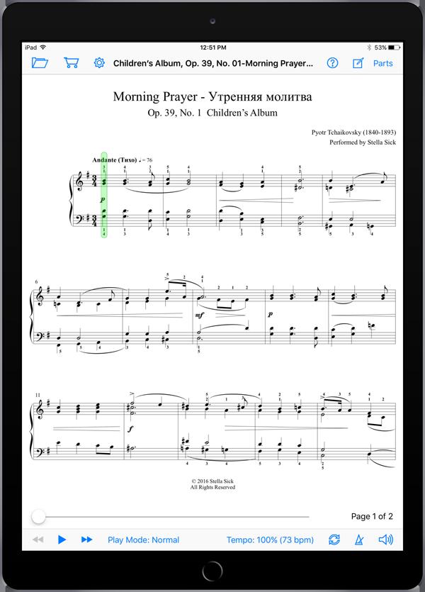 Children's Album, Op. 39, No. 01-Morning Prayer – Pyotr Tchaikovsky