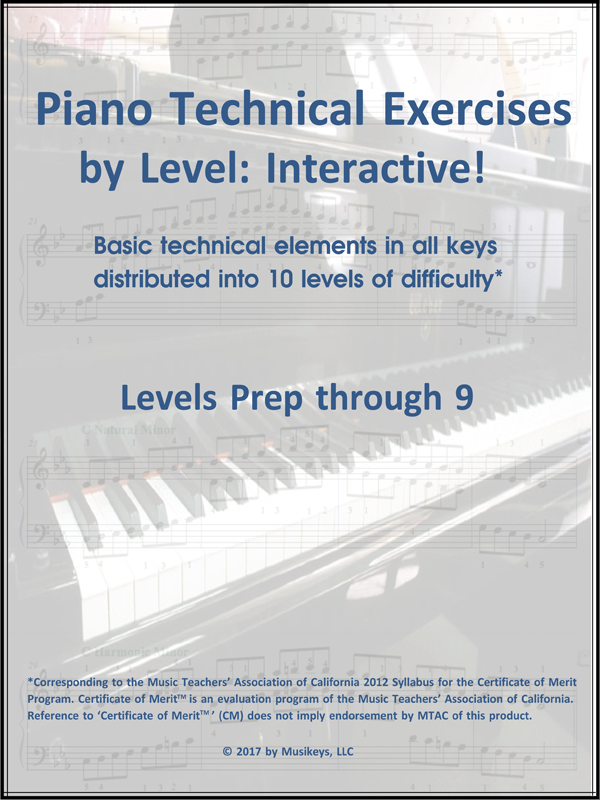 Piano Technical Exercises: Interactive! (Complete: Prep-Level 9 ...