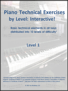 Piano Technical Exercises: Interactive! (Level 1)