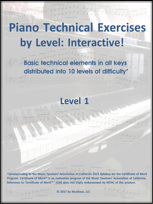 Piano Technical Exercises- Interactive! (Level 1)