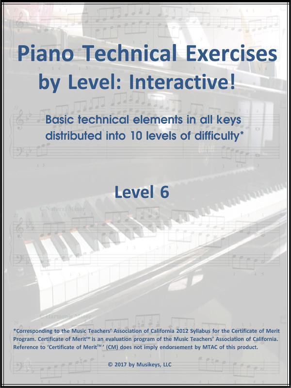 Piano Technical Exercises- Interactive! (Level 6)