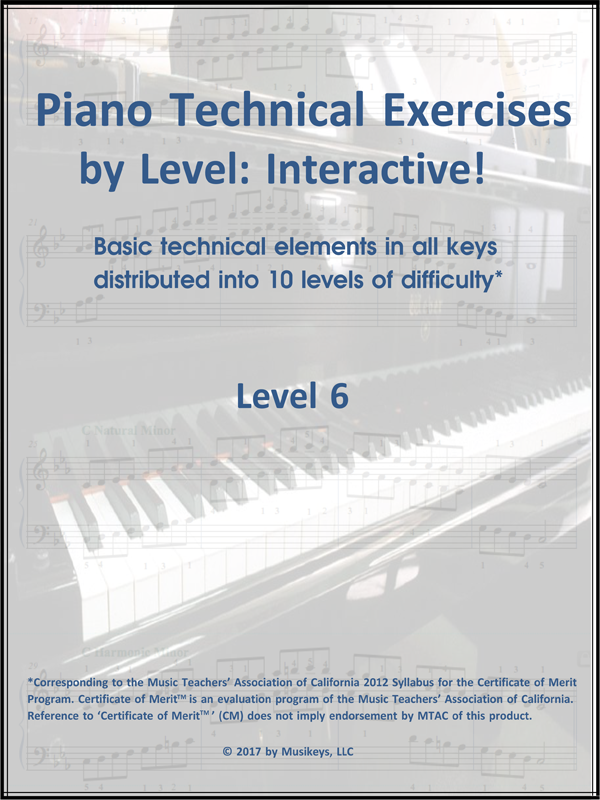 Piano Technical Exercises- Interactive! (Level 6)