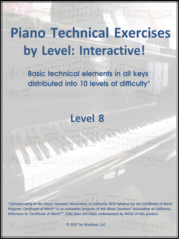 Piano Technical Exercises- Interactive! (Level 8)