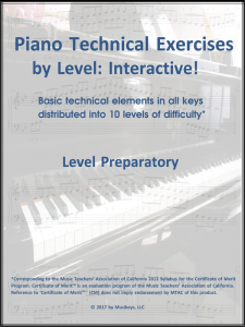Piano Technical Exercises- Interactive! (Level Prep)