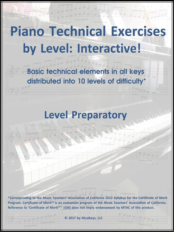 Piano Technical Exercises- Interactive! (Level Prep)