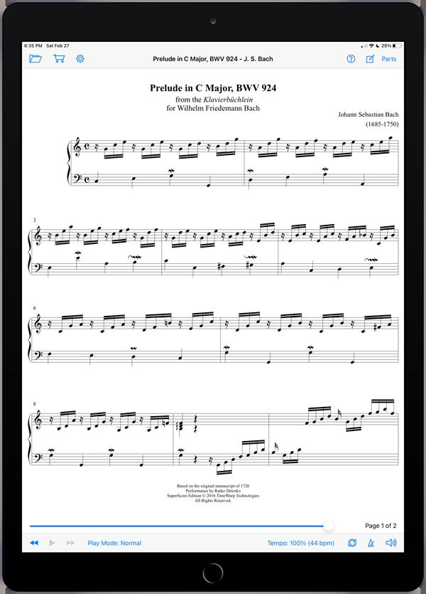 Prelude in C Major, BWV 924 by Johann Sebastian Bach