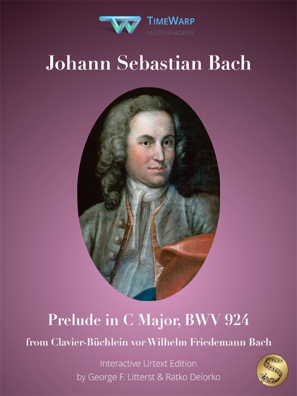 Prelude in C Major, BWV 924 by J. S. Bach Cover