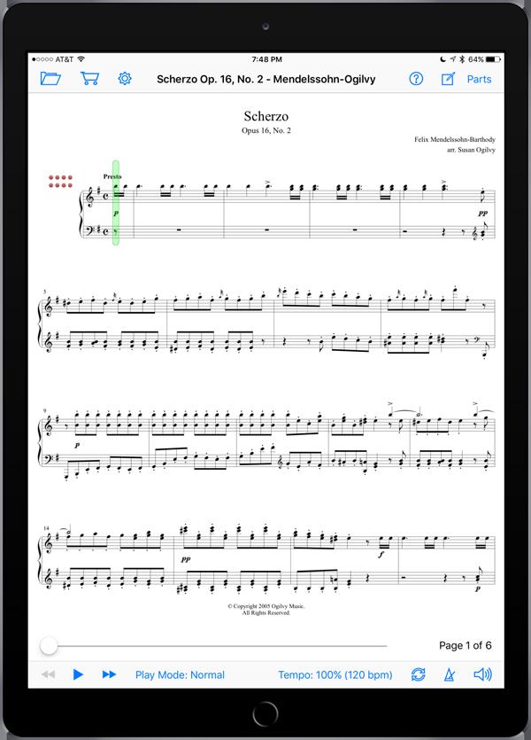 Scherzo Op. 16, No. 2 – Mendelssohn-Ogilvy