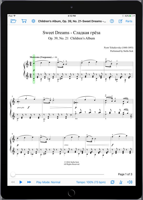 Children's Album, Op. 39, No. 21-Sweet Dreams – Pyotr Tchaikovsky