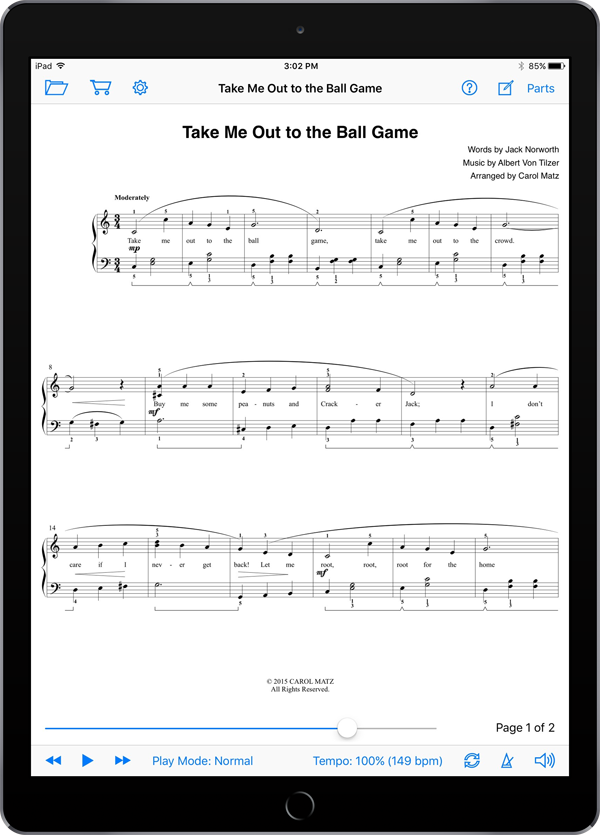 Take Me Out to the Ball Game – Tilzer-Matz