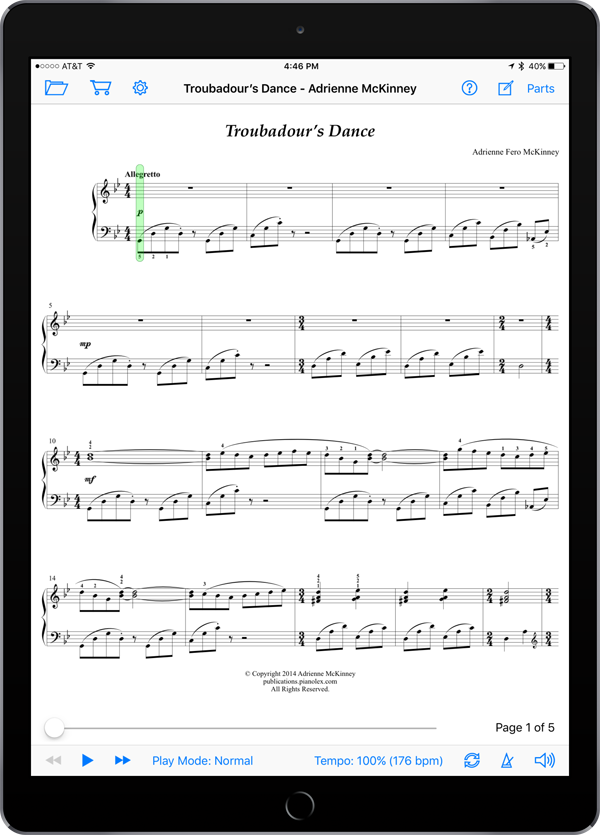 Troubadour's Dance by Adrienne McKinney