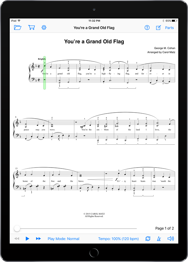 You're a Grand Old Flag – Cohan-Matz