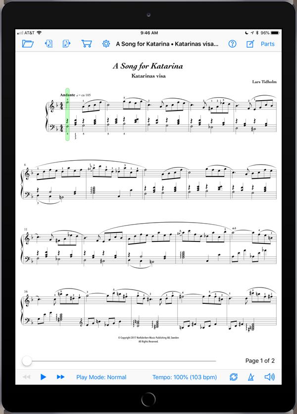 A Song for Katarina • Katarinas visa by Lars Tidholm