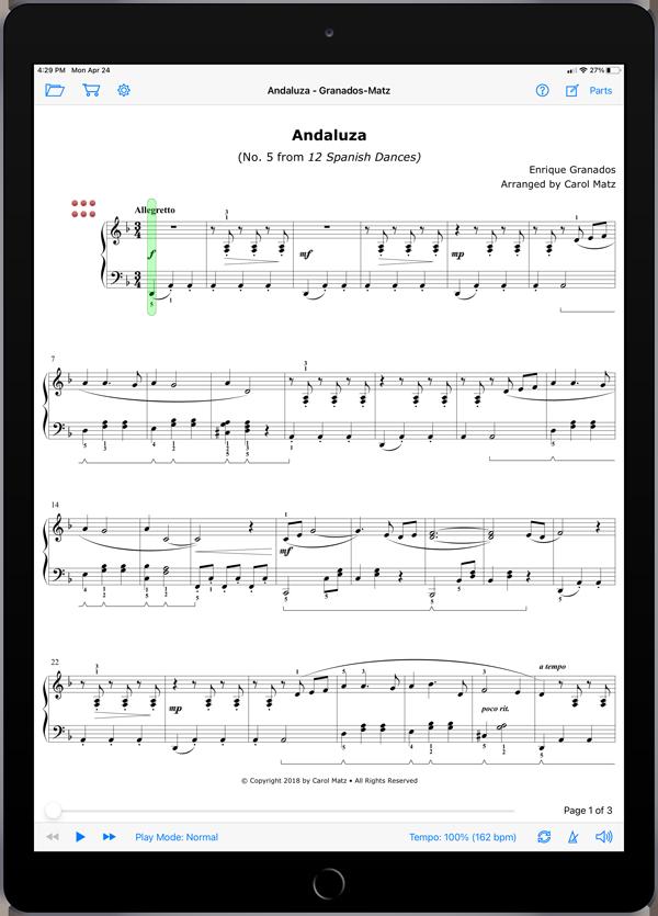 Andaluza by Enrique Granados-Carol Matz