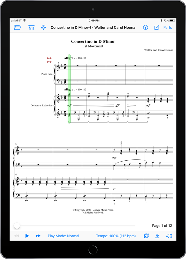 Concertino in D Minor by Walter and Carol Noona