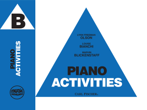 Music Pathways: Piano Activities – Level B
