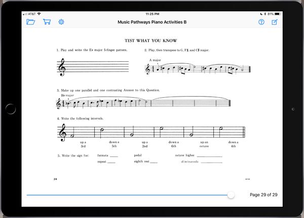 Music Pathways: Piano Activities – Level B