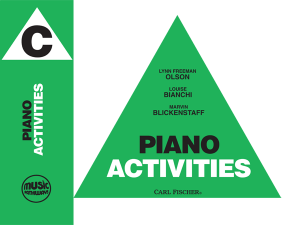 Music Pathways - Piano Activities - Level C