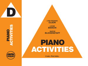 Music Pathways - Piano Activities - Level D