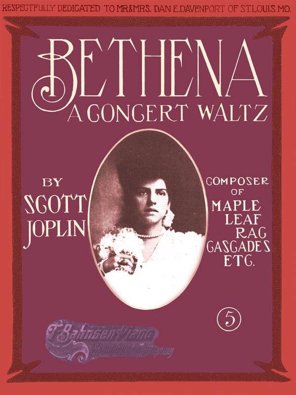 Bethena by Scott Joplin Cover