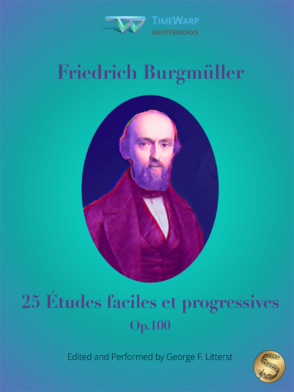 25 Études faciles et progressives, Op.100 by Friedrich Burgmüller Cover