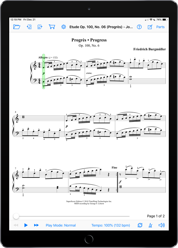 25 Études faciles et progressives, Op. 100 by Friedrich Burgmüller