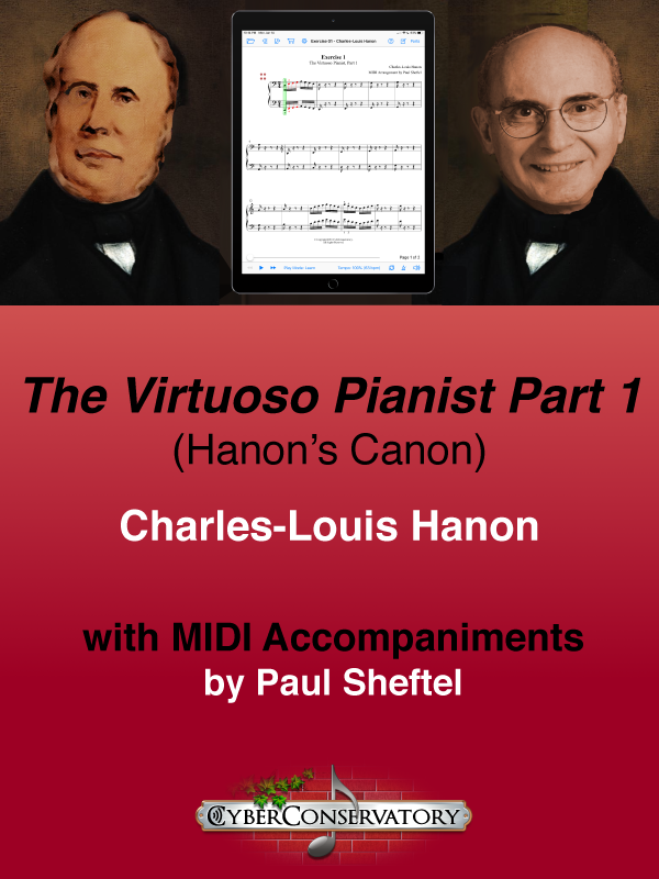 The Virtuoso Pianist Part 1 by Charles-Louis Hanon-Cover