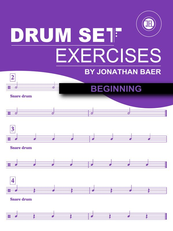 Beginning Drum Set Exercises Cover