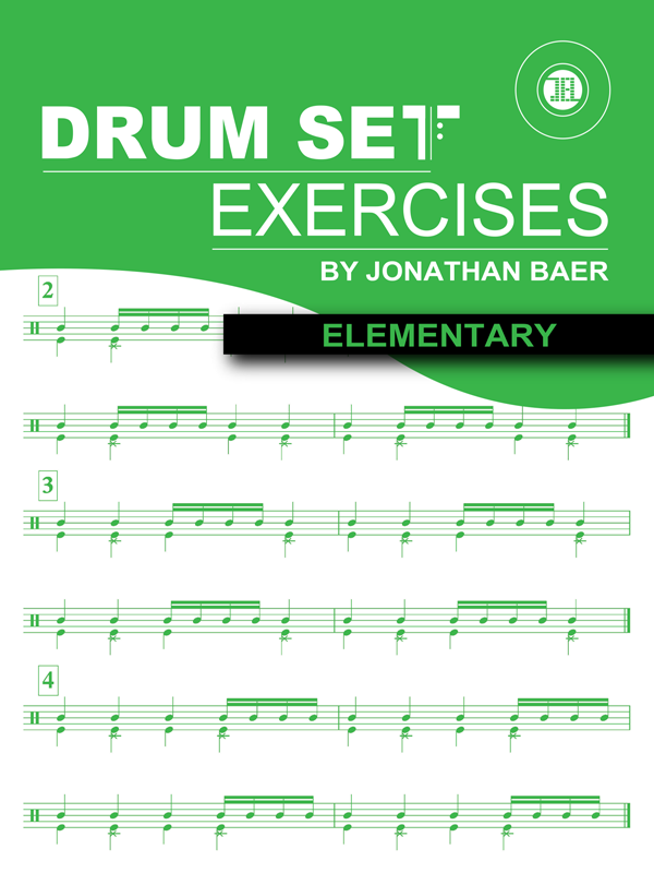 Elementary Drum Set Exercises Cover