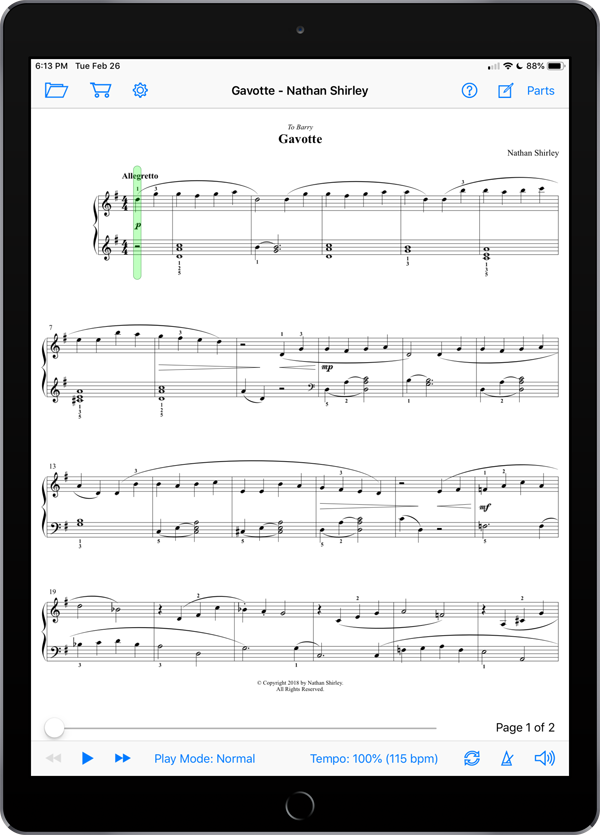 Gavotte by Nathan Shirley