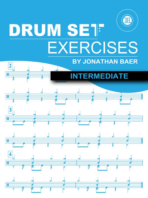 Intermediate Drum Set Exercises Cover