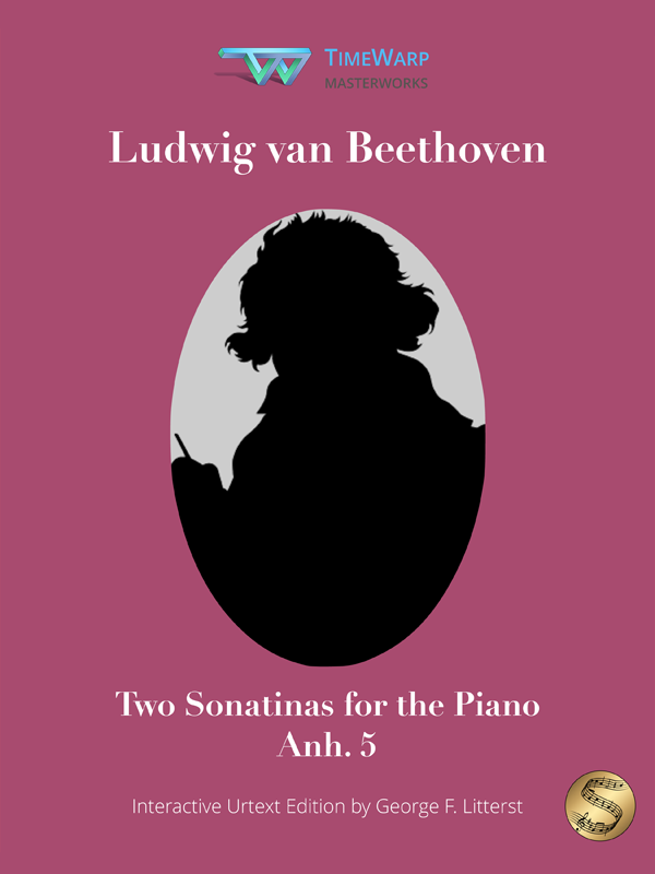 Two Sonatinas, Anh. 5 by Ludwig van Beethoven Cover