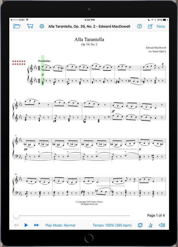 Alla Tarantella, Op. 39, No. 2 by MacDowell-Ogilvy