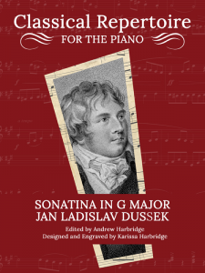 Sonatina in G Major, Op. 20, No. 1 by Jan Ladislav Dussek Cover