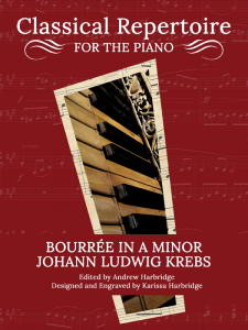 Bourree in A Minor by Johann Ludwig Krebs Cover