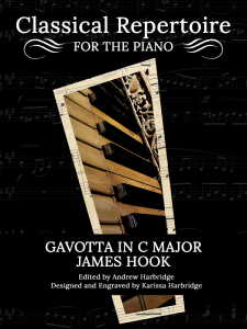 Gavotta in C Major by James Hook Cover