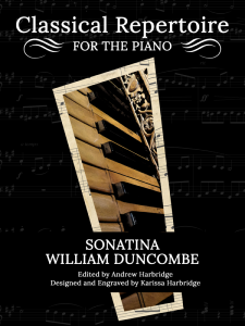 Sonatina by William Duncombe Cover